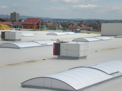 Lucrari, proiecte Luminatoare industriale - Spatiu comercial Carrefour - Drobeta Turnu Severin HEXADOME - Poza 1