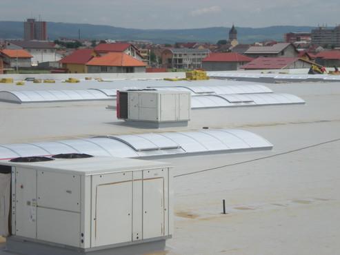 Lucrari, proiecte Luminatoare industriale - Spatiu comercial Carrefour - Drobeta Turnu Severin HEXADOME - Poza 3