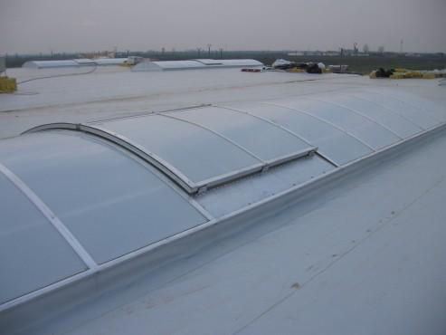 Lucrari, proiecte Luminatoare industriale - Spatiu comercial Carrefour - Focsani HEXADOME - Poza 2