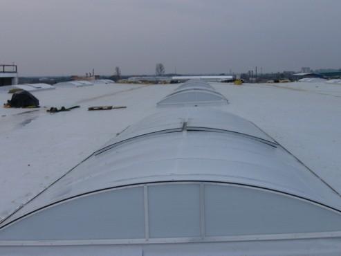 Luminatoare industriale - Spatiu comercial Carrefour - Focsani HEXADOME - Poza 3