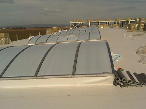 Lucrari, proiecte Luminatoare industriale - Spatiu de productie Apex - Brasov HEXADOME - Poza 2