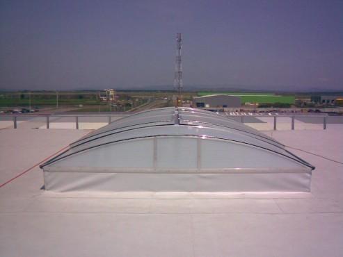 Lucrari, proiecte Luminatoare industriale - Fuchs - Curtea de Arges HEXADOME - Poza 3