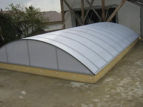 Lucrari, proiecte Luminatoare industriale - Piscina Bistrita - Casa particulara HEXADOME - Poza 2