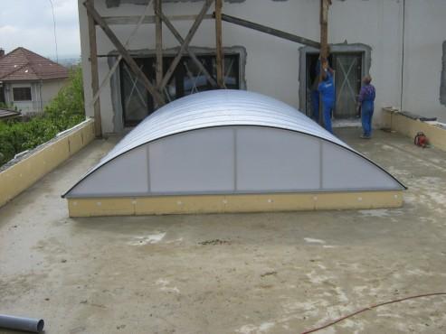 Lucrari, proiecte Luminatoare industriale - Piscina Bistrita - Casa particulara HEXADOME - Poza 3
