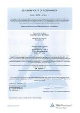 Certificat de conformitate SOUCHIER
