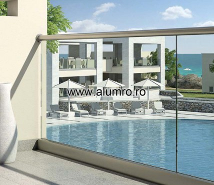 Balustrade moderne din sticla ALUMINCO - Poza 1