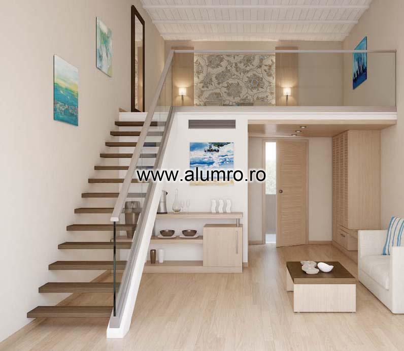 Balustrade moderne din sticla ALUMINCO - Poza 3