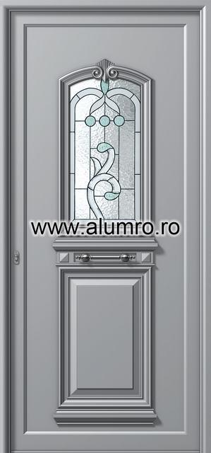 Usa din aluminiu pentru exterior - P110 vitroBwhite ALUMINCO - Poza 11
