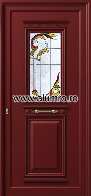 Usa din aluminiu pentru exterior - P155 vitroAbrown ALUMINCO - Poza 33