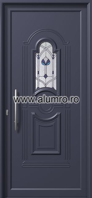 Usa din aluminiu pentru exterior - E871 deco 2 ALUMINCO - Poza 169
