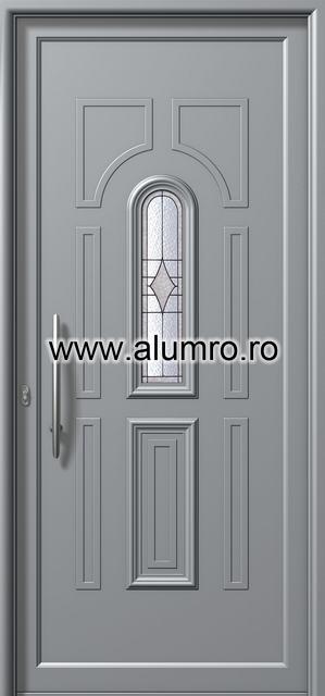Usa din aluminiu pentru exterior - E881 deco 2 ALUMINCO - Poza 179