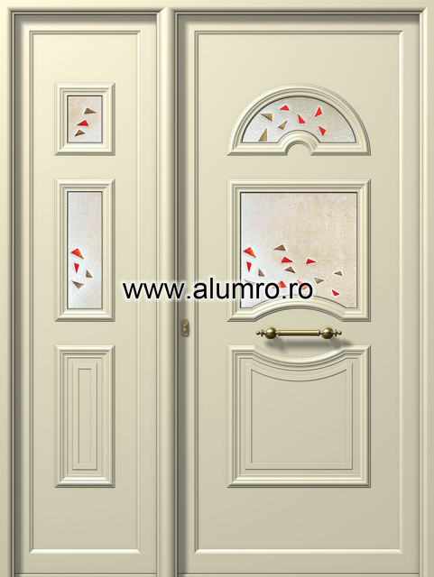 Usa din aluminiu pentru exterior - E988-E702 fused 5 ALUMINCO - Poza 241