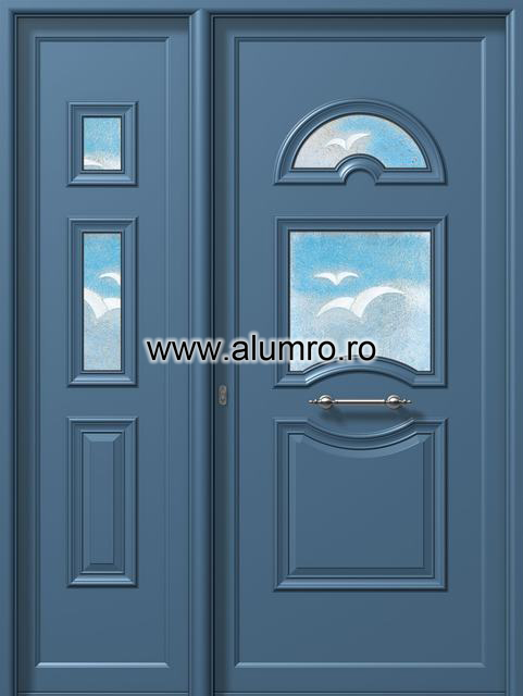 Usa din aluminiu pentru exterior - P6752-P6142 fused 4 ALUMINCO - Poza 57