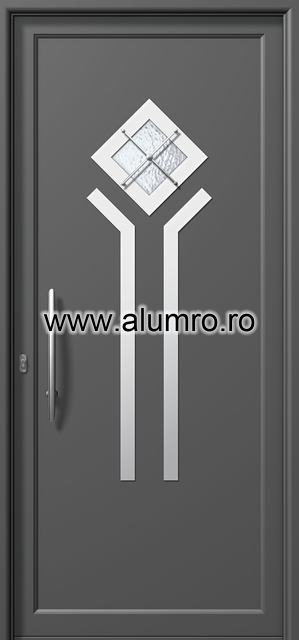 Usa din aluminiu pentru exterior INOX 300 - I311mca ALUMINCO - Poza 1