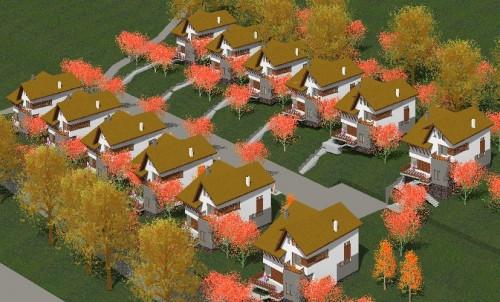 Lucrari, proiecte Ansamblu case de vacanta - Cheia  - Poza 2