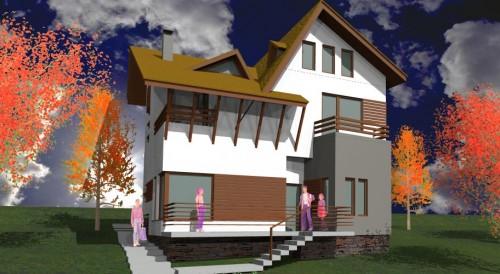 Lucrari, proiecte Ansamblu case de vacanta - Cheia  - Poza 8
