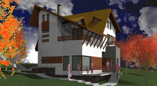 Lucrari, proiecte Ansamblu case de vacanta - Cheia  - Poza 10