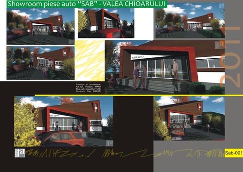 Lucrari, proiecte Showroom piese auto SAB - Valea Chioarului  - Poza 1