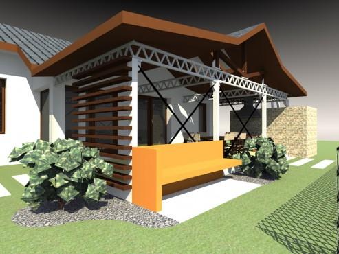 Lucrari, proiecte Terasa acoperita - Mihailesti  - Poza 2