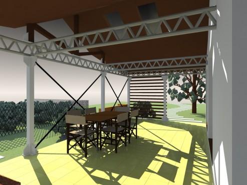 Lucrari, proiecte Terasa acoperita - Mihailesti  - Poza 4