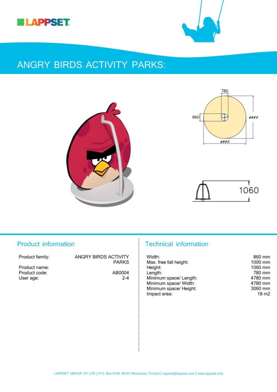 Pagina 1 - Echipament de joaca pentru copii - AB0004 LAPPSET ANGRY BIRDS Fisa tehnica Engleza