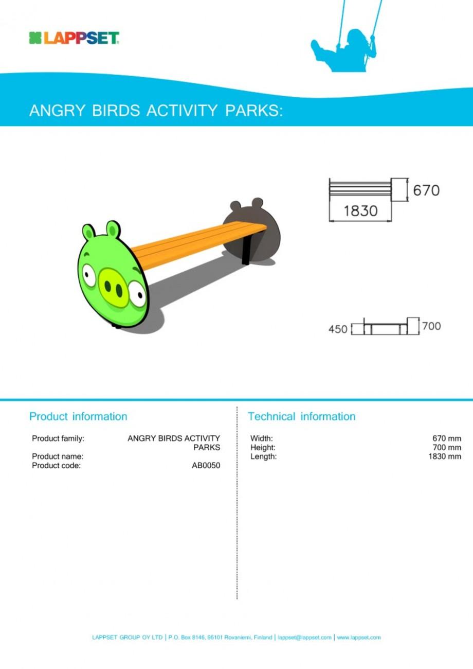 Pagina 1 - Echipament de joaca pentru copii - AB0050 LAPPSET ANGRY BIRDS Fisa tehnica Engleza