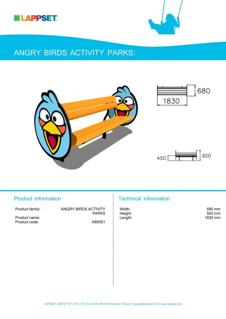 Pagina 1 - Echipament de joaca pentru copii - AB0051 LAPPSET ANGRY BIRDS Fisa tehnica Engleza