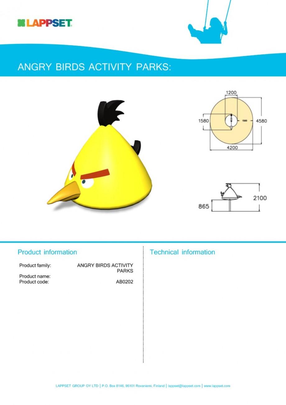 Pagina 1 - Echipament de joaca pentru copii - AB0202 LAPPSET ANGRY BIRDS Fisa tehnica Engleza