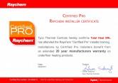 Certificat PRO RAYCHEM