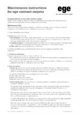 Mocheta de interior - instructiuni generale de intretinere EGE