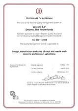 Certificat de aprobare ISO 9001 VESCOM