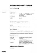 Tapet vinilic - informatii generale de siguranta VESCOM