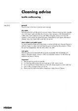 Tapet textil - instructiuni de curatare VESCOM