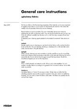 Materiale textile pentru perdele, draperii, tapiterii - instructiuni generale de intretinere VESCOM
