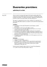Materiale textile pentru perdele, draperii, tapiterii - instructiuni generale pentru garantie VESCOM
