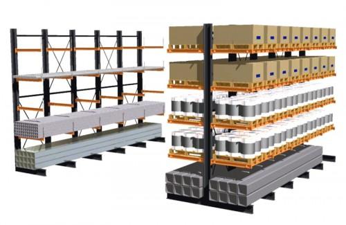 Prezentare produs Rafturi metalice cu brate portante PROINVEST - Poza 1