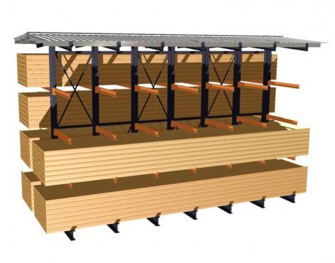 Prezentare produs Rafturi metalice cu brate portante PROINVEST - Poza 2