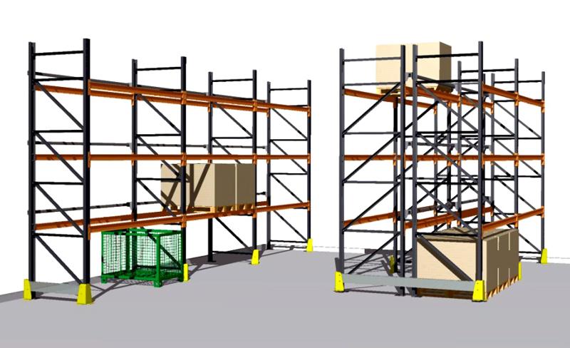 Rafturi metalice pentru depozitare paleti PROINVEST - Poza 1
