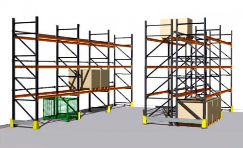 Prezentare produs Rafturi metalice pentru depozitare paleti PROINVEST - Poza 1