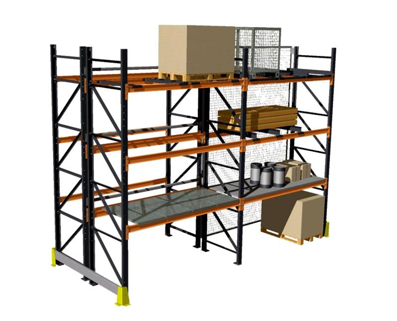 Rafturi metalice pentru depozitare paleti PROINVEST - Poza 2