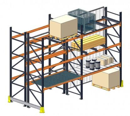 Prezentare produs Rafturi metalice pentru depozitare paleti PROINVEST - Poza 3