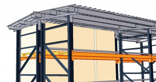 Prezentare produs Rafturi metalice pentru depozitare paleti PROINVEST - Poza 4