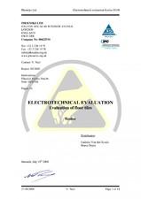 Certificat pardoseli PVC SILDAN