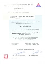Certificat ISO SILDAN