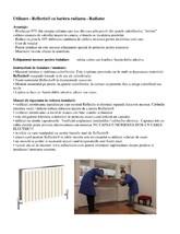 Folie termoizolanta utilizata ca bariera radianta la Radiator REFLECTIX