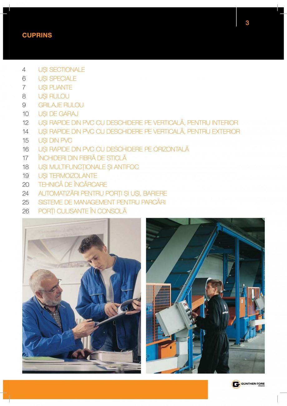 Pagina 3 - Porti industriale sectionale GUNTHER-TORE Catalog, brosura Romana %