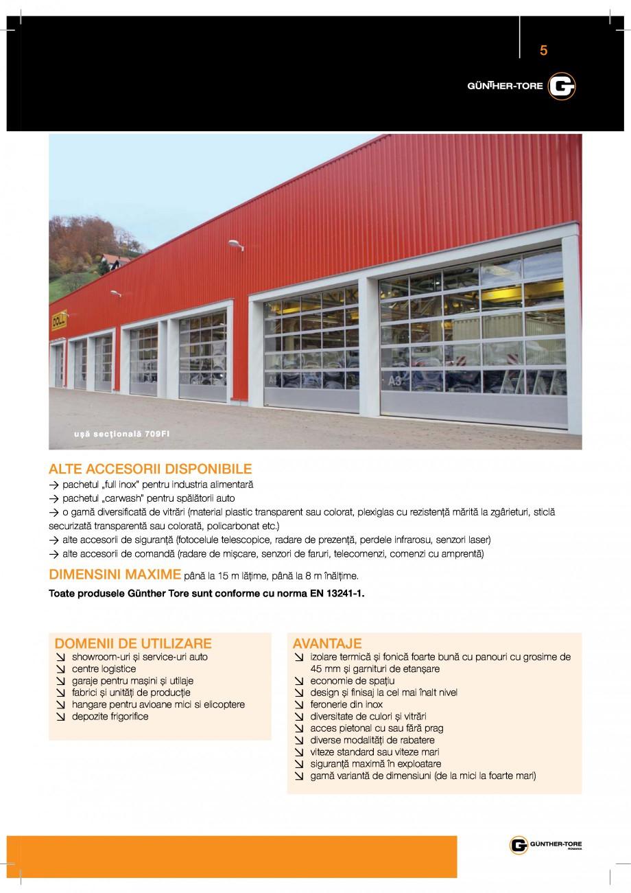 Pagina 5 - Porti industriale sectionale GUNTHER-TORE Catalog, brosura Romana $/$&%  $ &%...