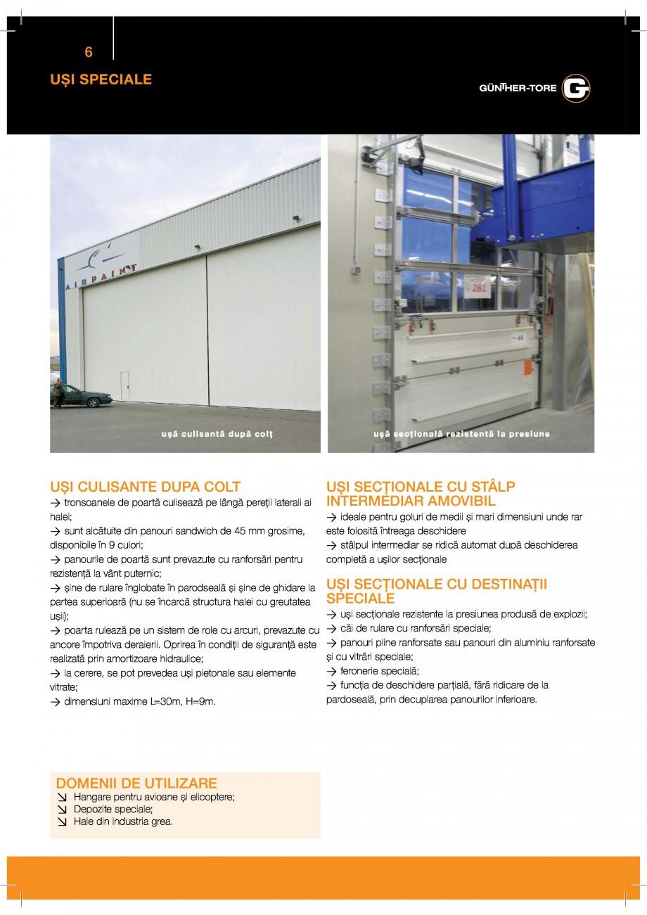 Pagina 6 - Porti industriale sectionale GUNTHER-TORE Catalog, brosura Romana %%& '3[8  * % ...