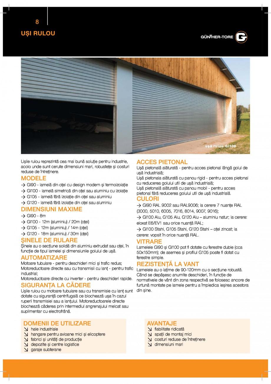 Pagina 8 - Porti industriale sectionale GUNTHER-TORE Catalog, brosura Romana ! &