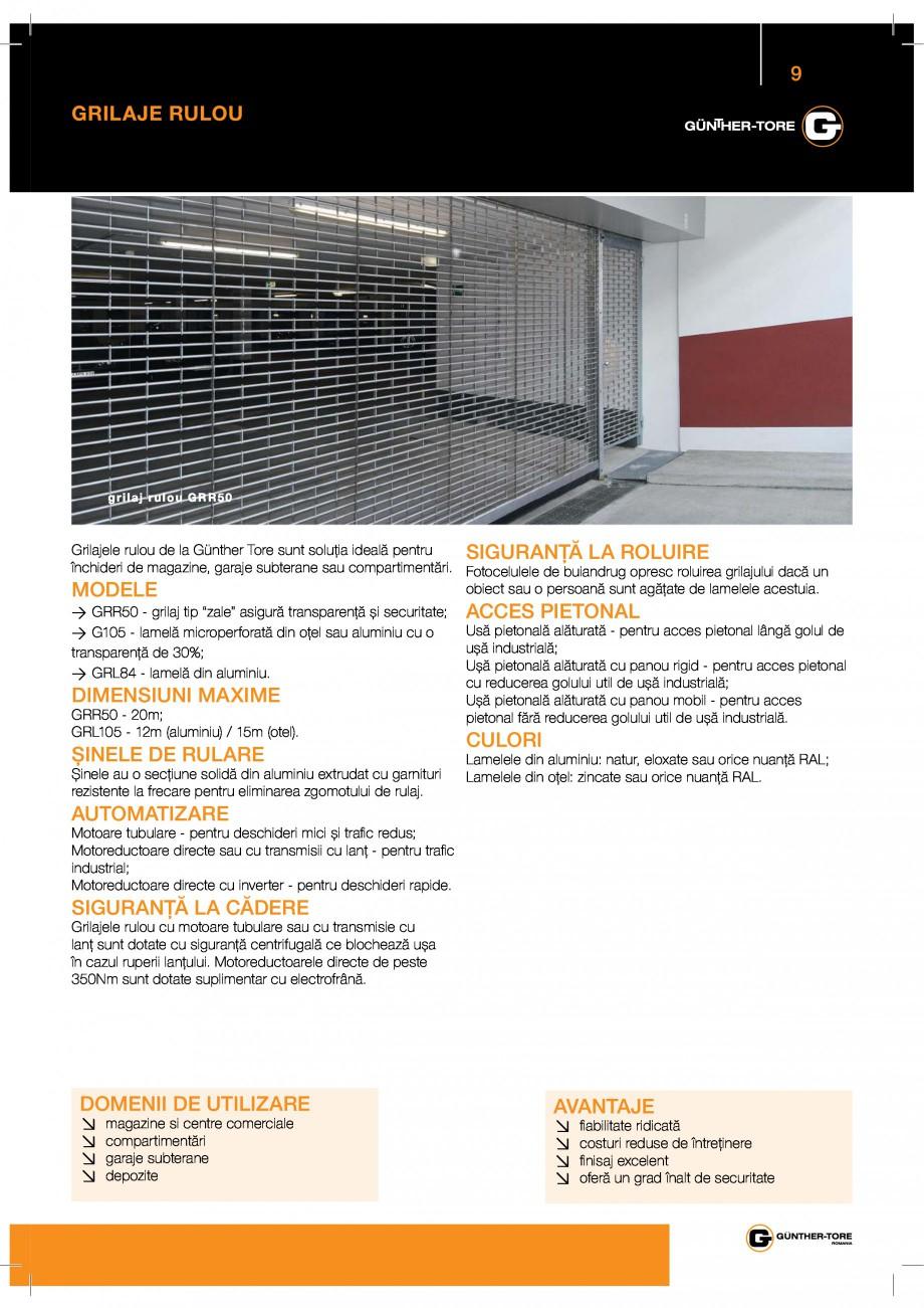 Pagina 9 - Porti industriale sectionale GUNTHER-TORE Catalog, brosura Romana % % 2 % &  %